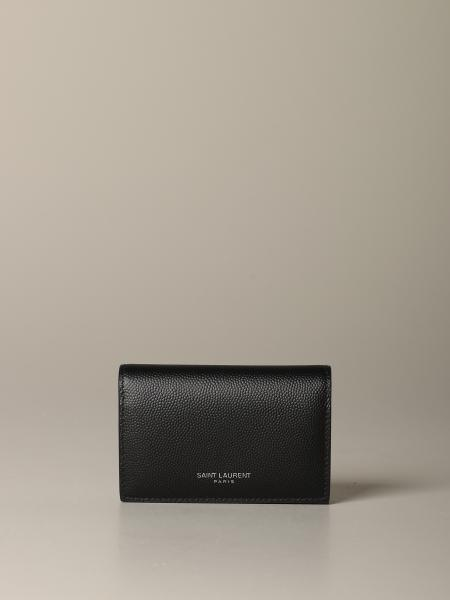 Saint Laurent keyring in micro-textured leather