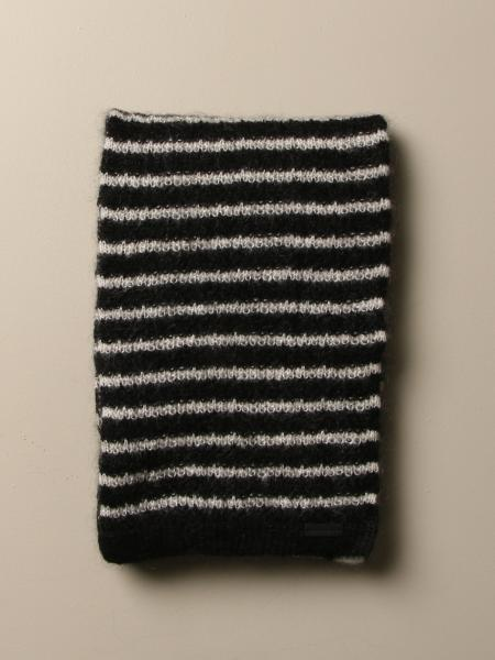 Saint Laurent scarf in striped blended wool