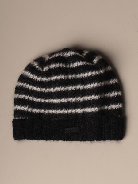 Saint Laurent striped wool hat
