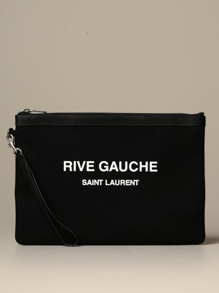 Clutch bag Rive Gauche Saint Laurent in canvas