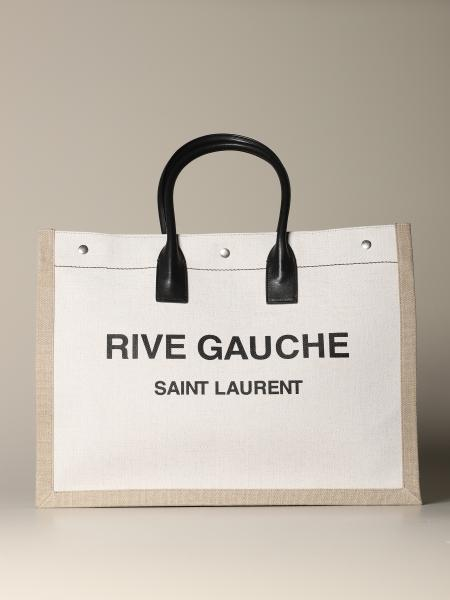 Noe Rive Gauche Saint Laurent tote bag in linen and leather