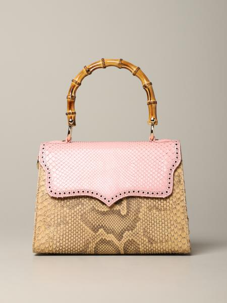 Tarì Rural Design Small Pink Beige Bag in python leather