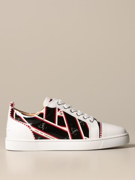 Louis Junior Christian Louboutin sneakers in leather with logo print