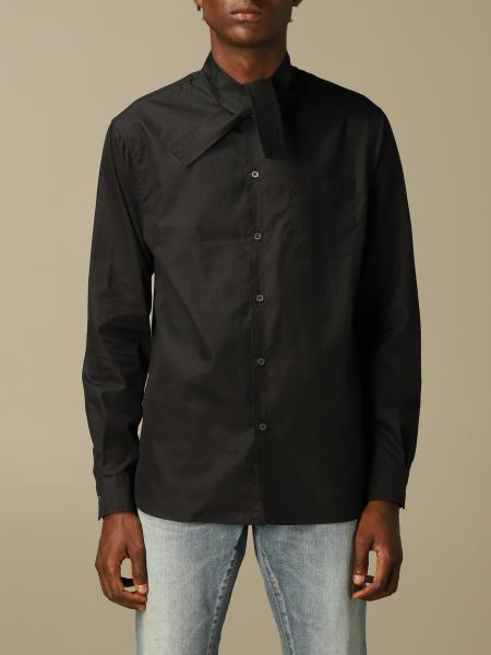 Camicia N°21 in cotone con collo a nodo