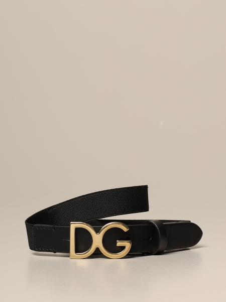 Dolce & Gabbana leather belt with elastic ribbon