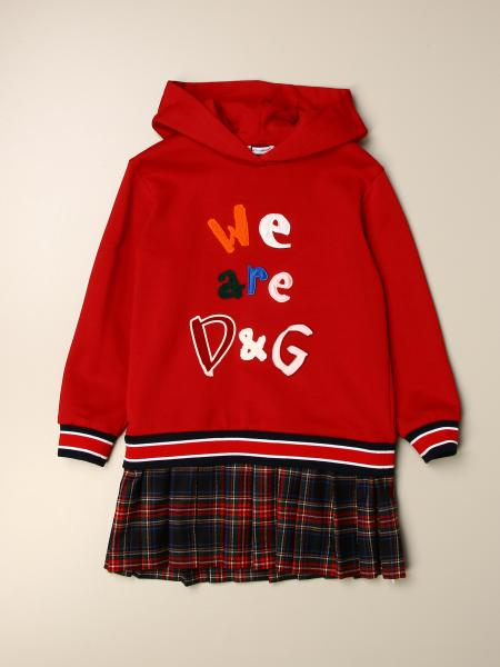Dolce & Gabbana sweatshirt dress with tartan skirt