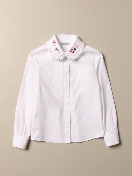 Dolce & Gabbana shirt with logoed collar