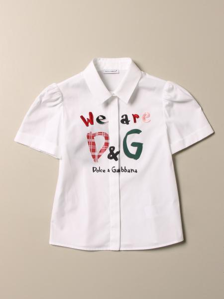 Camicia Dolce & Gabbana con logo we are D&G