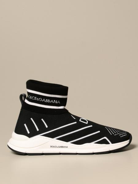 Dolce & Gabbana kids: Dolce & Gabbana sneakers in stretch knit with logo