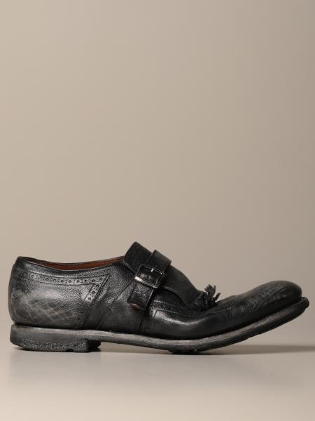 Shangai Church's monk strap in vintage leather with buckle