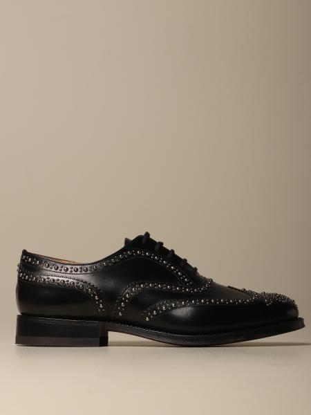 Burwood Church's Oxford in leather with studs