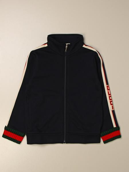 Gucci kids: Gucci sweatshirt with zip and Web Sport bands