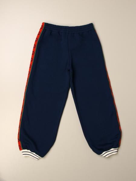 Jogging trousers with logoed bands