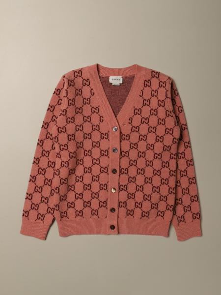 Cardigan Gucci in lana con motivo GG all over