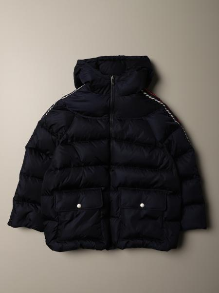 Gucci padded nylon down jacket with GG Gucci bands