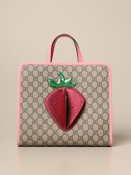 Gucci bag in GG Supreme fabric with 3D strawberry
