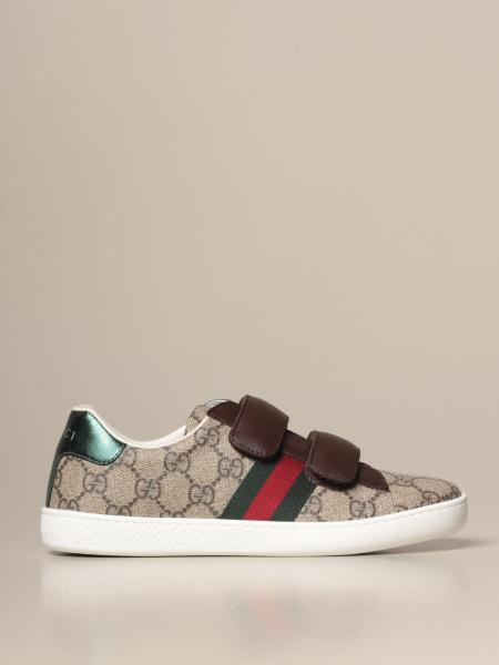 Gucci Ace sneakers with Web bands and GG Supreme logo
