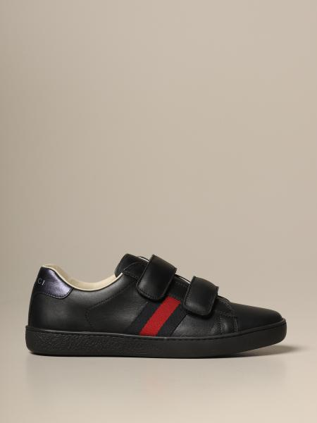 Baskets sneakers Ace Gucci en cuir avec bandes Web