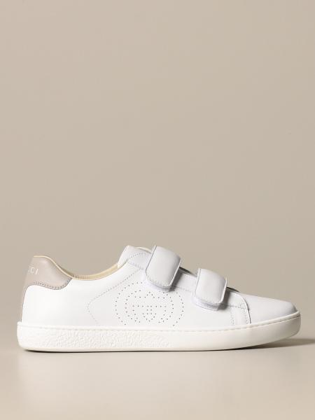 Ace Gucci sneakers in leather with colored heel