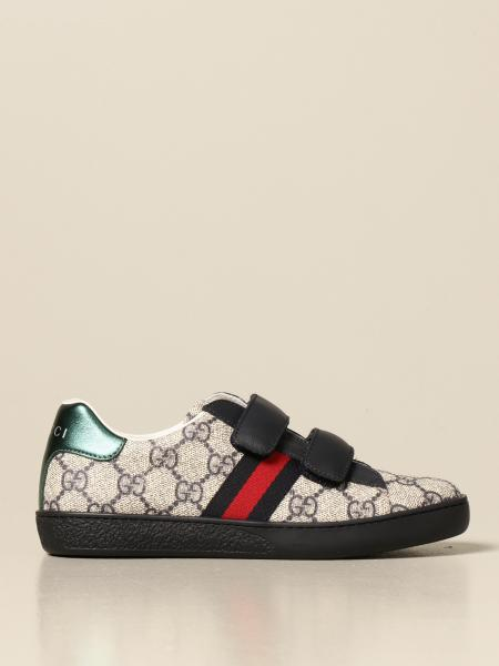 Gucci Ace sneakers with Web bands and GG Supreme print