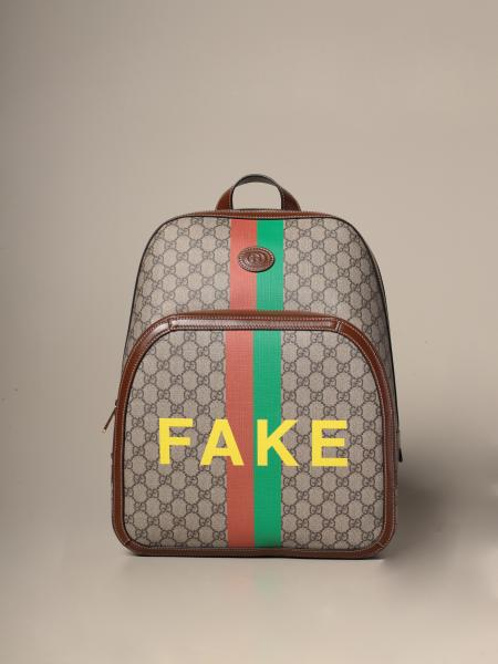 Gucci GG Supreme backpack with not fake print