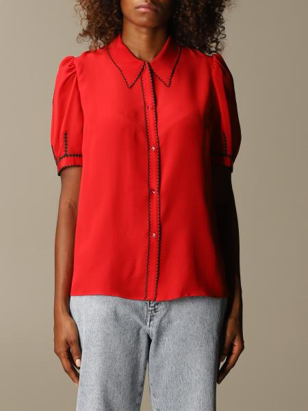 Miu Miu silk shirt with micro wave edges