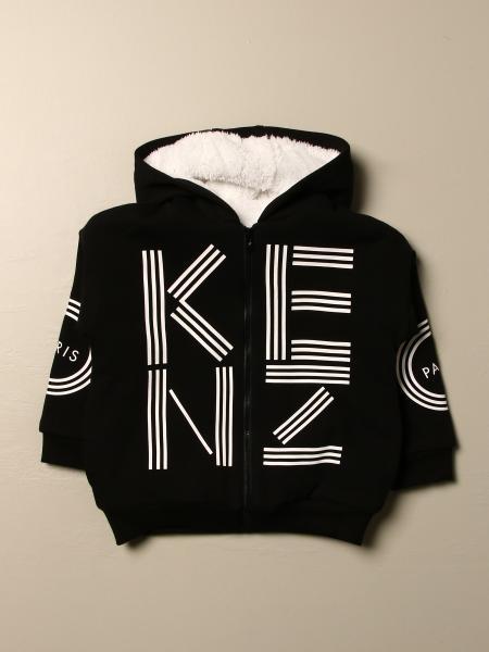 Felpa Kenzo Junior in cotone con stampa Kenzo Paris