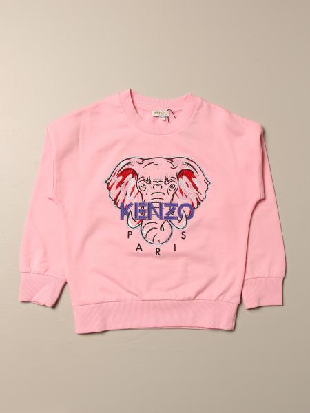 Kenzo kids: Kenzo Junior cotton sweatshirt with Kenzo Paris Elephant logo
