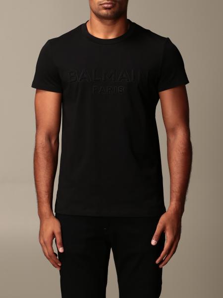 Balmain cotton T-shirt with embossed logo
