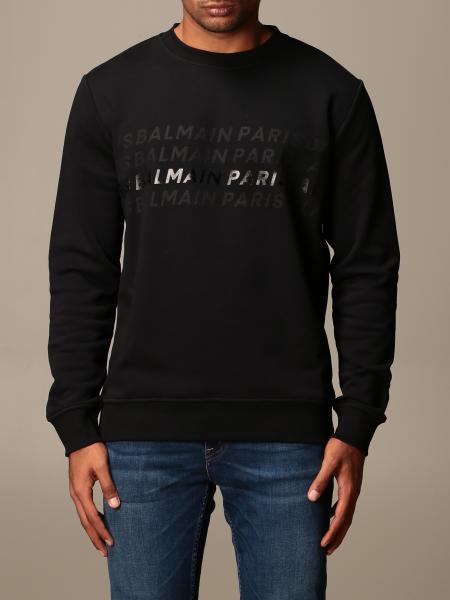 Balmain: Balmain cotton sweatshirt with logo