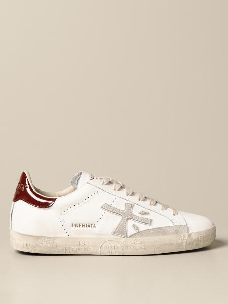 Premiata men: Steven Premiata sneakers in leather and suede