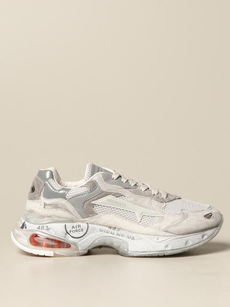 Premiata men: Sharky Premiata sneakers in suede and mesh