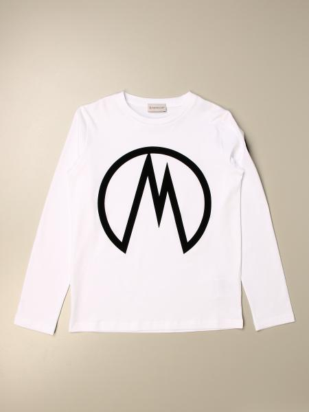Moncler cotton sweater with flocked logo