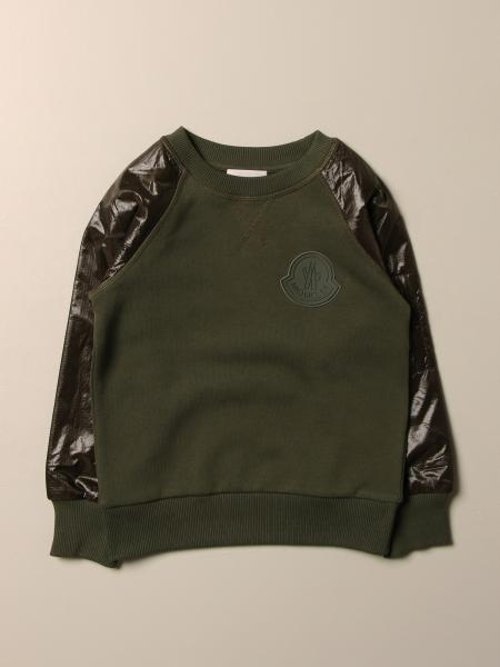 Moncler: Moncler sweatshirt in cotton and ripstop nylon