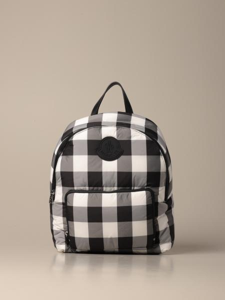 Moncler backpack in padded check fabric