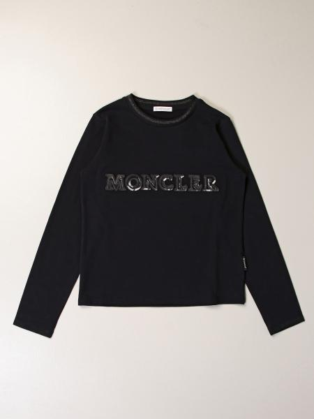 Moncler: Moncler cotton sweater with sequin logo