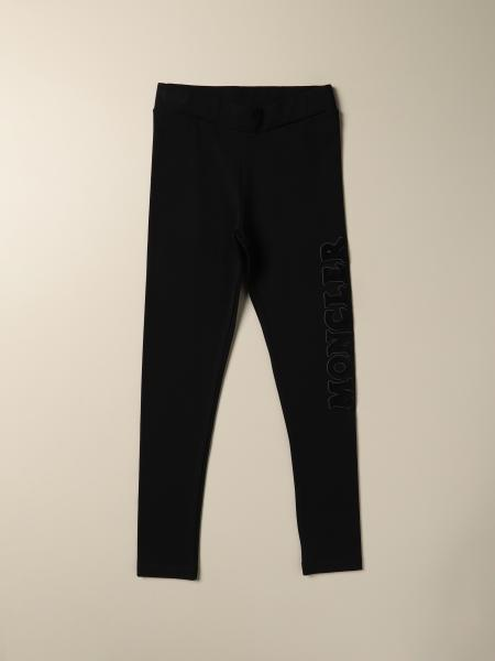 Moncler: Moncler leggings in Milano stitch with logo