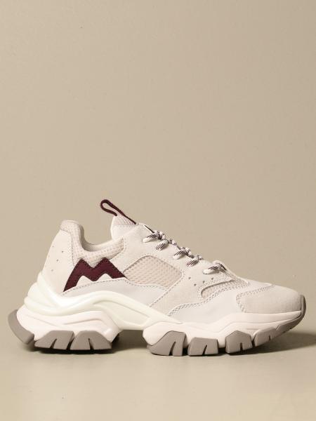 Sneakers Petite Leave No Trace Moncler in camoscio e rete