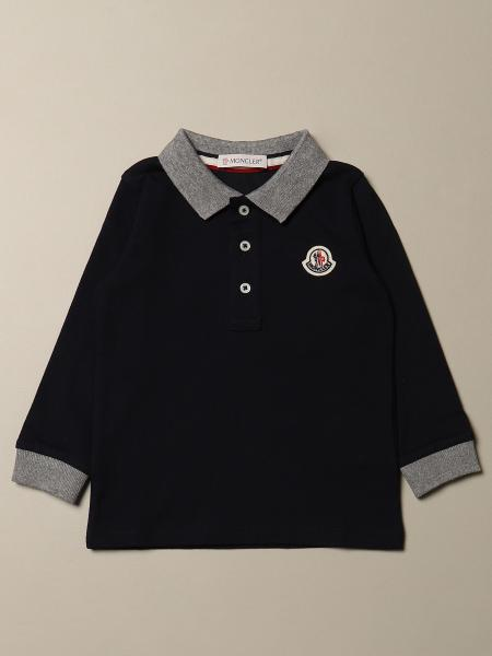 Moncler: Moncler polo shirt in cotton piqué with logo