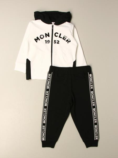 Moncler: Moncler sweatshirt + pants set in cotton with logo