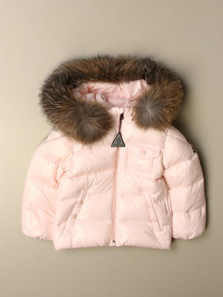 K2 shiny down jacket with detachable fur hood