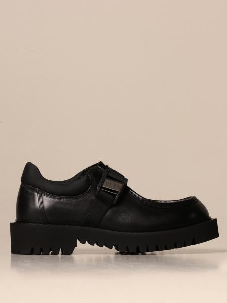 Valentino Garavani Norwegian in leather with VLTN buckle