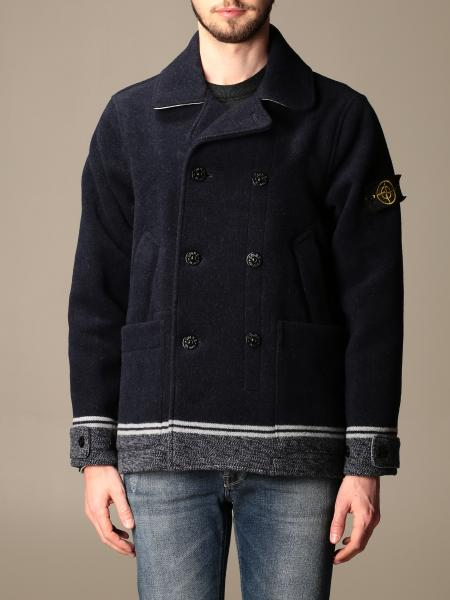 Stone Island men: Peacot Stone Island with contrasting bottom