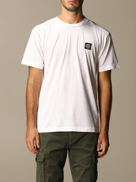 Stone Island cotton t-shirt with logo