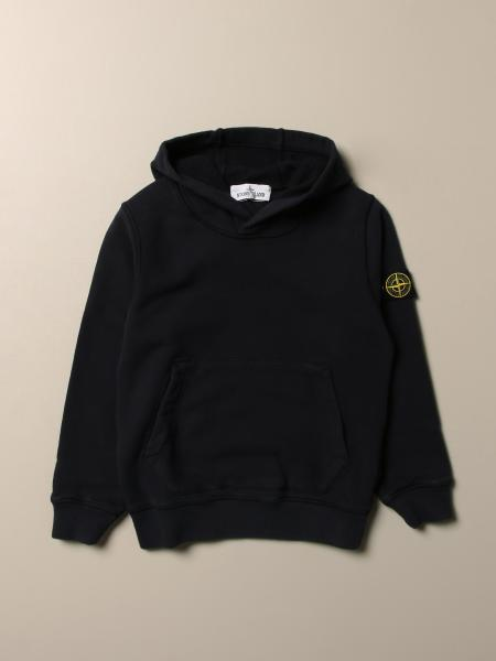 Stone Island Junior cotton hoodie