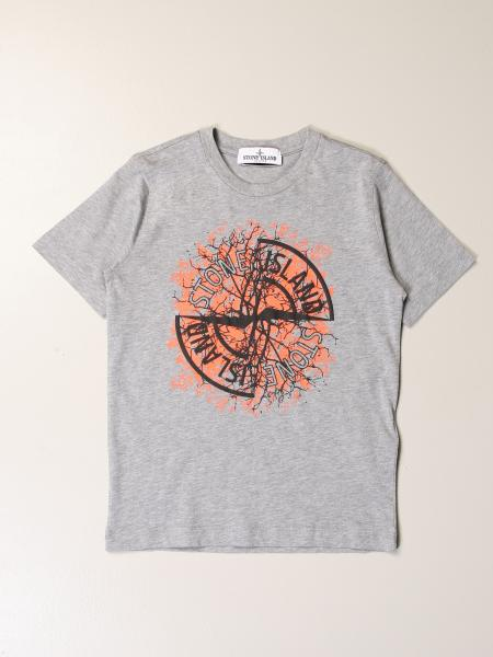 Stone Island Junior bambino: T-shirt Stone Island Junior in cotone con logo