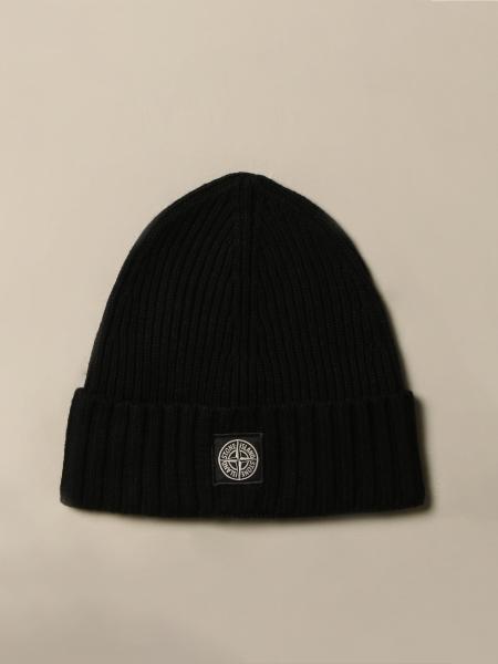 Cappello Stone Island Junior di lana con logo