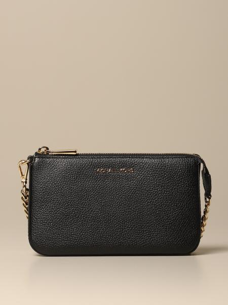 Michael Michael Kors chain clutch in grained leather