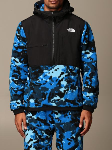 The North Face: Felpa The North Face in pile camouflage e nylon