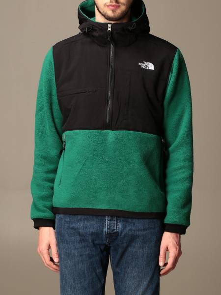 The North Face: Felpa The Not Face in pile e nylon con cappuccio e logo